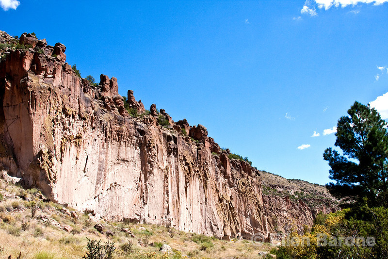 Cliff scenic, Long house, Bandelier National Monument, Jemez Mountains, New Mexico.