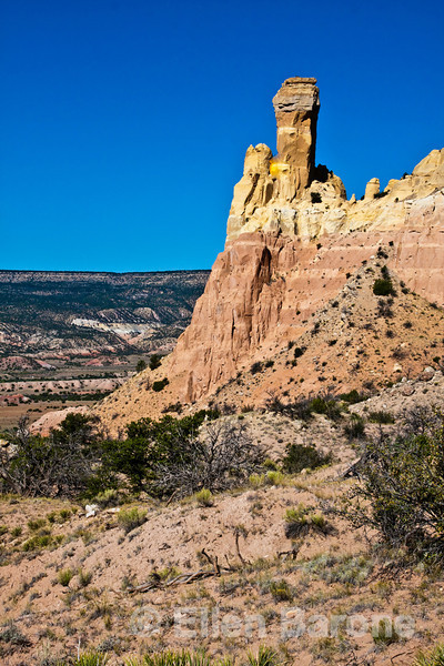 Chimney Rock,  Ghost Ranch, Abiquiu, New Mexico.