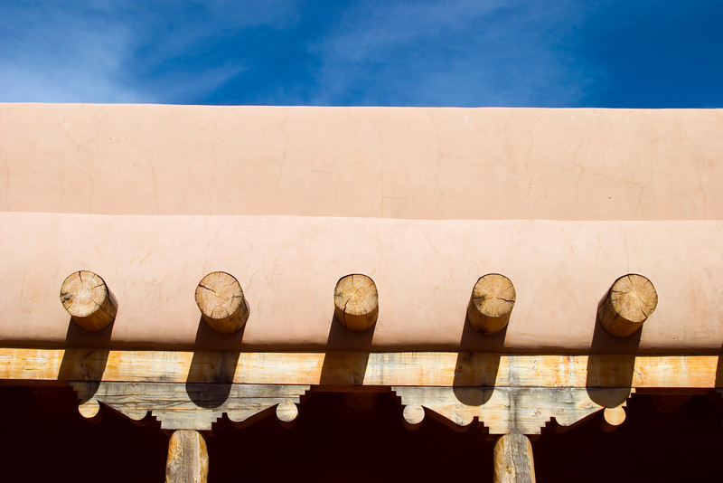 Adobe architecture, Santa Fe, New Mexico.