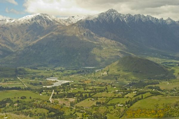 "Mountain scenic as viewed from ""Lord of the Rings"" jeep safari, Nomad Safaris, Queenstown, South Island, New Zealand"