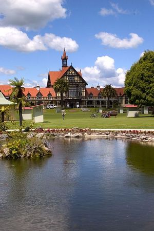 Government Gardens and the Museum of Art and History, Rotorua, North Island, New Zealand