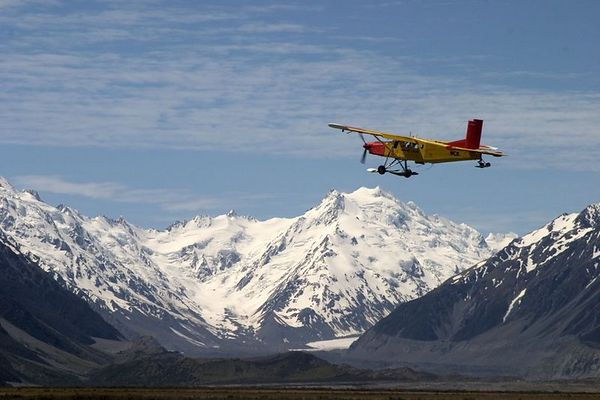 Flightseeing with Mt. Cook Ski Planes includes a dramatic glacial landing, Mount Cook National Park, South Island, New Zealand