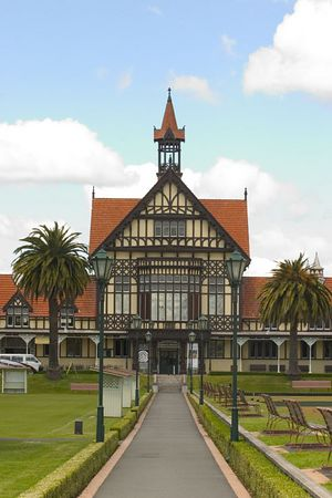 Government Gardens and the Rotorua Museum of Art and History, Rotorua, North Island, New Zealand