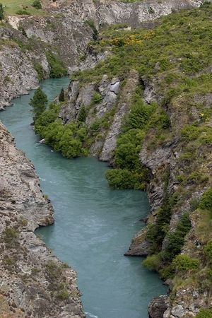 the scenic Kawarau River, Queenstown environs, South Island, New Zealand