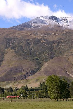 Scenic landscape, the Remarkables mountain range, Queenstown environs, South Island, New Zealand