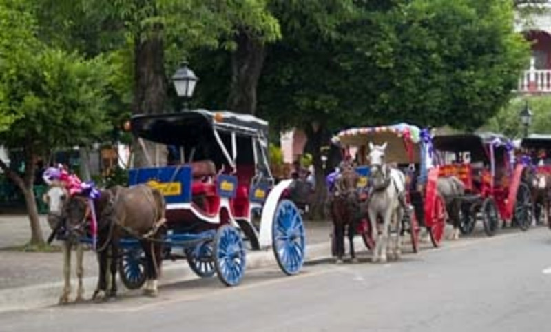 horse and carriages, Granada, Nicaragua, Central America