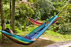 colorful hammock, Finca Esperanza Verde Eco-lodge and Nature Preserve, nothern Nicaragua, Central America
