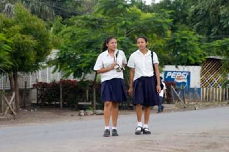 school girls, Nicaragua, Central America