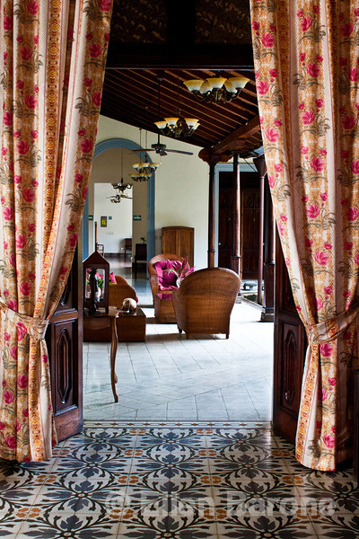Hotel la Bocona, an intimate six guest room boutique hotel in a restored colonial mansion in Granada, Nicaragua.