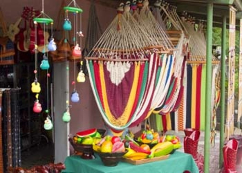 colorful hammocks and crafts for sale, Catarina, Nicaragua, Central America