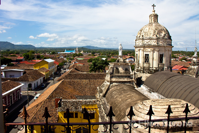 View from La Merced bell tower, Granada, Nicaragua.