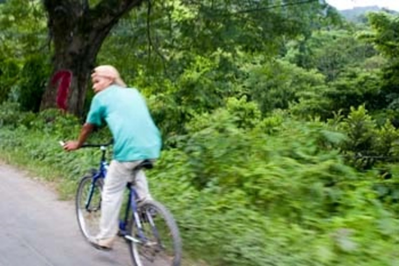 slice of life, bicyclist, Nicaragua, Central America