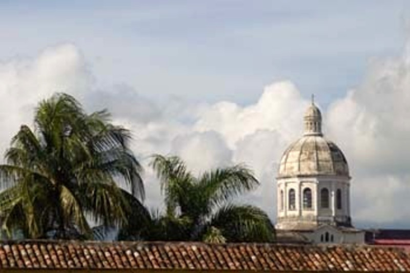 rooftops, Granada, Nicaragua, Central America