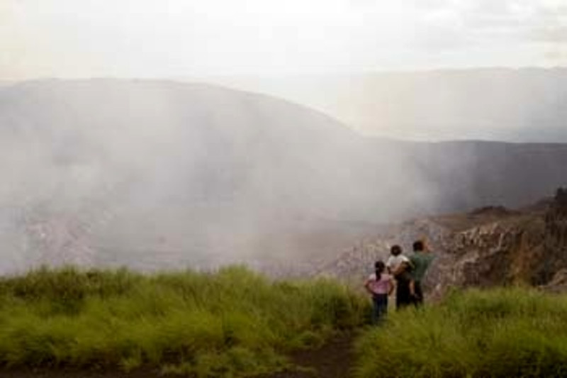 view of Santiago crater, Masaya Volcano National Park, Nicaragua, Central America