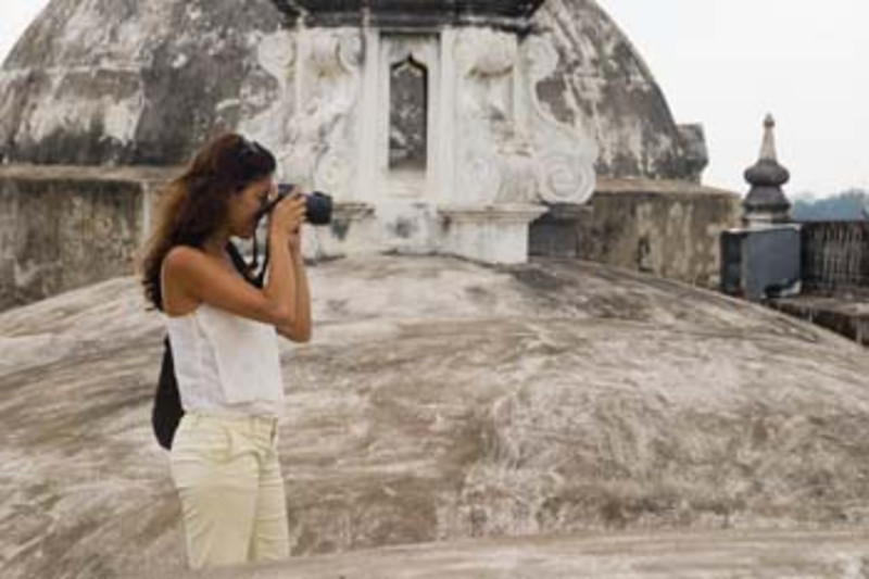 photographing atop the Cathedral, Leon, Nicaragua, Central America