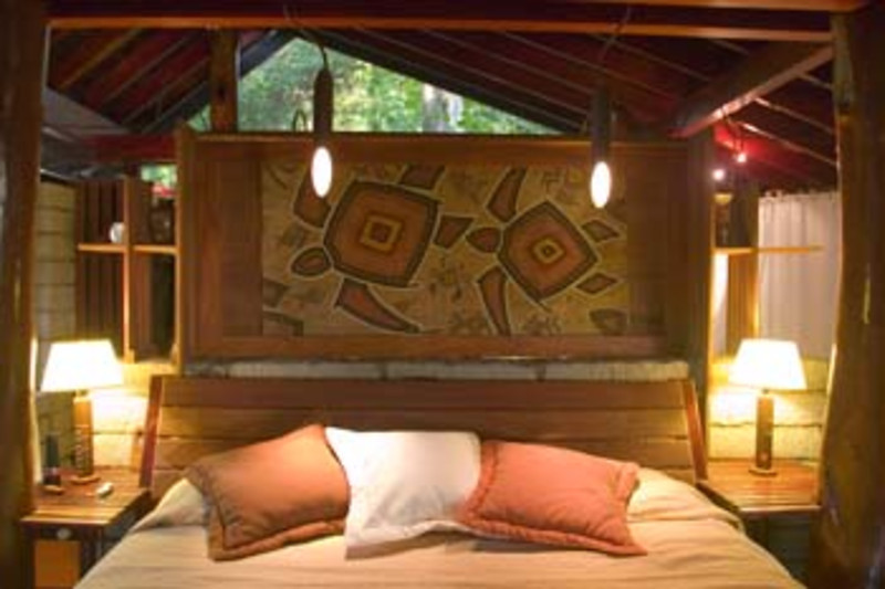 interior guest accommodations, Morgan's Rock Hacienda Eco-lodge, near San Juan del Sur, Pacific coast, Nicaragua, Central America