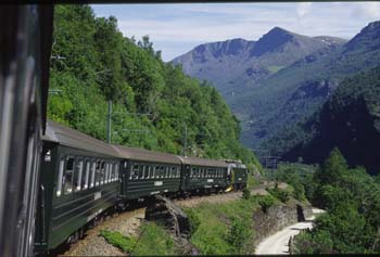 "The popular Flam Train offers one of the world's most scenic rail journey's, part of the famous ""Norway In A Nutshell"" tour."
