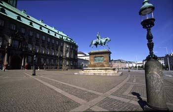The palace of Christianborg, Denmark's seat of government, Copenhagen, Denmark