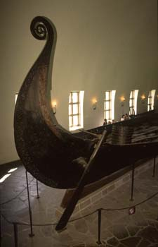 The Viking Ship Museum houses the world's best preserved collections of the elegant long ships of the Viking Age, Oslo, Norway