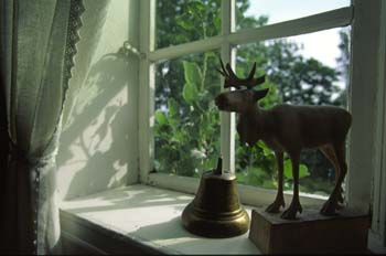 Window detail, private residence, Annexstad Farm, a virtual museum of agricultural life in Norway. (near Oslo)