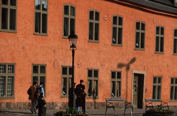 Street scene, Gamla Stan, the old town of<br /> Stockholm, Sweden