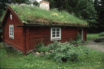 Traditional building at Skansen, an open-air folk museum dedicated to preserving the fast-dissappearing Swedish way of life, Stockholm.