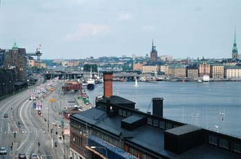 Stockholm, a city of islands, spreads out in a lovely panorama of water and architecture, Sweden