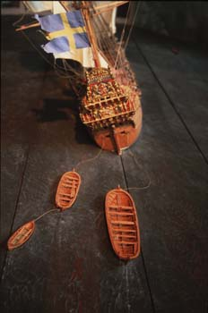 Replica of the Vasa warship built in the 1620s on the orders of Gustav II Adolf, the Vasa Museum, Stockholm, Sweden