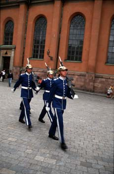 Changing of the guards at the Royal Palace, Gamla Stan, Stockholm, Sweden