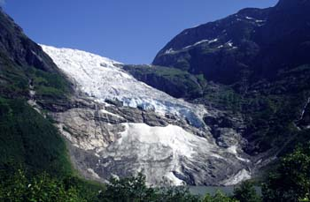 The magnificent Briksdals glacier, part of the great Jostedalsbreen, near Leon, Norway
