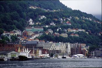 Surrounded by seven mountains, Bergen is a major port with nine centuries of maritime tradition. Bergen, Norway