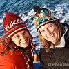 """Happy tourists, whale watching cruise with Sea Life Surveys  <a href=""""http://www.wild-scotland.org.uk/"""">http://www.wild-scotland.org.uk/</a>), Isle of Mull, Scotland, U.K."""