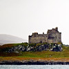 Duart Castle as viewed from Oban ferry to Isle of Mull, Scotland, U.K.