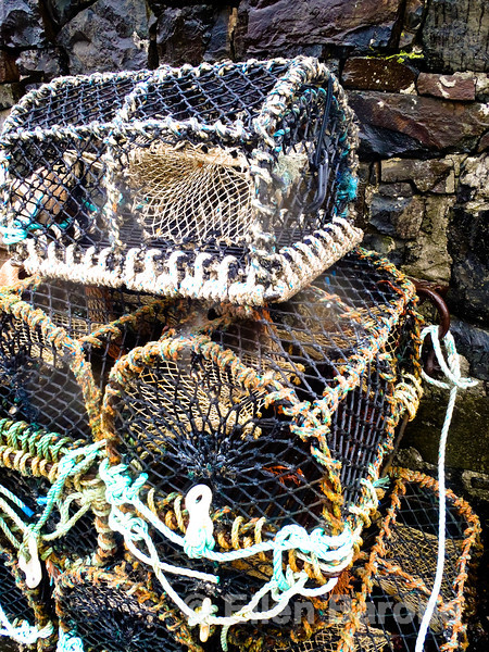 Lobster traps, Croig Harbour, Isle of Mull, Scotland, U.K. p