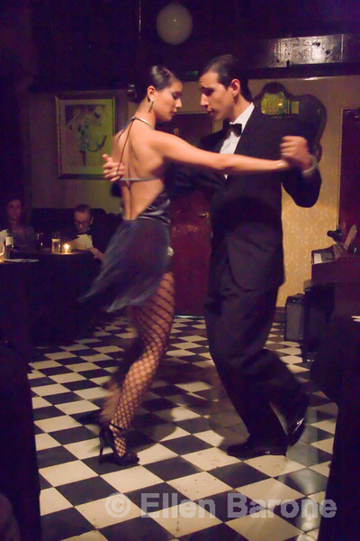 Tango dancing at Bar Sur, a 40-year tradition in the culturally-rich neighborhood of San Telmo, Buenos Aires, Argentina. ©2007 Ellen Barone.