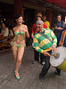 Samba dancer and band at the popular Mercado del Puerto, Montevideo, Uruguay. ©2007 Ellen Barone.