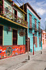 The colorful jumble of buildings in La Boca, Buenos Aires, Argentina. ©2007 Ellen Barone.