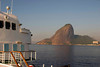 Entering the harbor at Rio de Janeiro by ship offers passengers stunning vistas of the iconic Sugarloaf mountain, Rio de Janeiro, Brasil. ©2007 Hank Barone