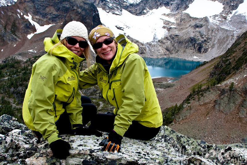 Bodacious trip hosts Angie Smith and Ellen Slaughter, Heli-hiking vacation, Canadian Mountain Holidays, Canada.