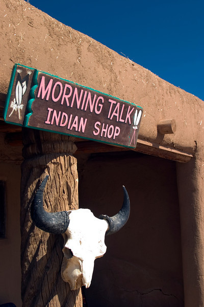 Morning Talk Indian Shop, Taos Pueblo, Taos, NM