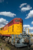 Santa Fe Southern train engine, Santa Fe Railyard, Guadalupe St., Santa Fe, New Mexico, USA.