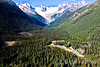 Bugaboo Lodge with mountain backdrop, Heli-hiking vacation, Canadian Mountain Holidays, Canada.