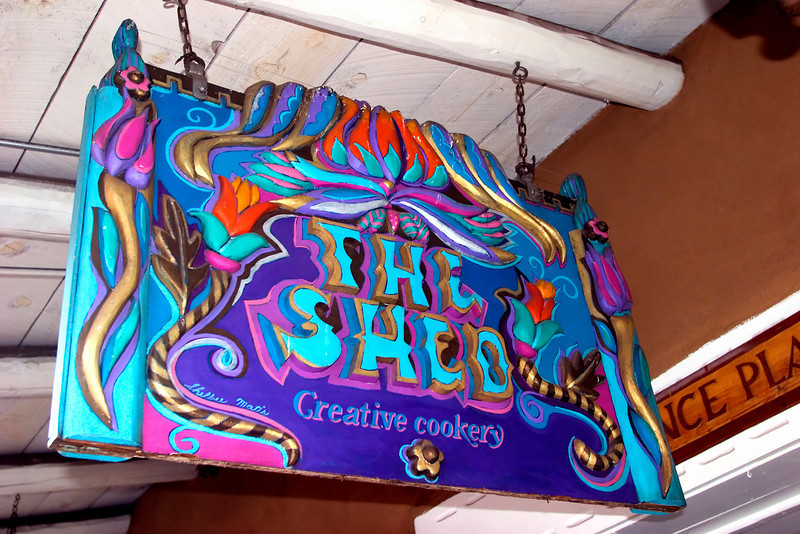 The Shed, one of Santa Fe's most popular eateries, Sena Plaza, Santa Fe, NM