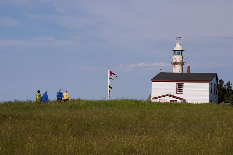 lighthouse, LobsterCove, northern peninsula, Newfoundland, Canada