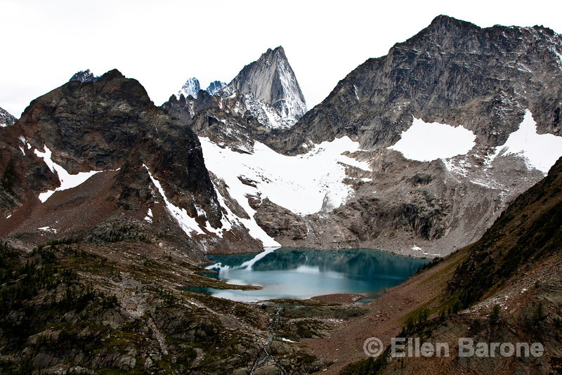 Glacial lake, Heli-hiking vacation, Canadian Mountain Holidays, Canada.