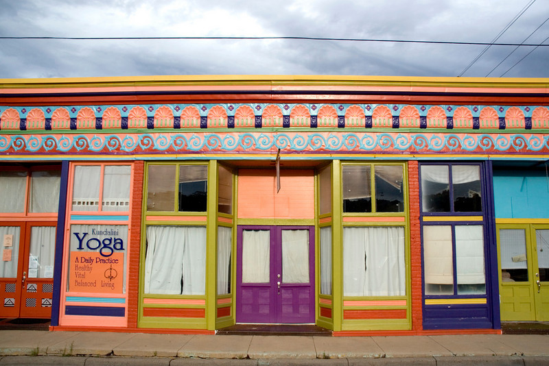 Historic downtown is experiencing revitalization.  Many of the Victorian era buildings of the Silver boom heyday are being revamped to house art galleries, Internet cafes and restaurants. Silver City, New Mexico. USA