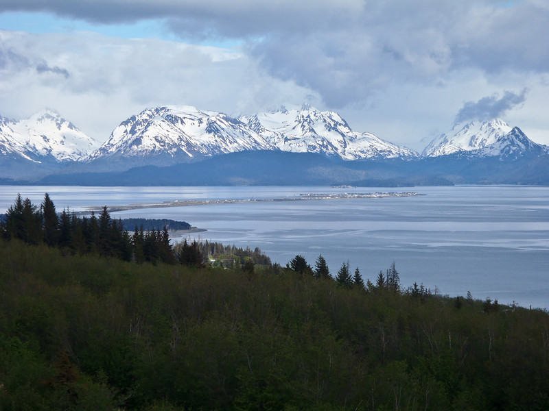 View of Kachemak Bay as viewed from the Bear's Den Lodge, Alaska Adventure Cabins, Homer, Alaska.
