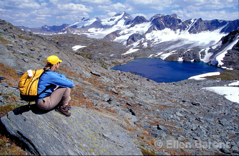 CMH hiker, Canadian Mountain Holidays, Helihiking, Bobbie Burns Lodge, Purcell Mountains, British Columbia, Canada