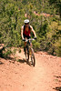 Mountain biker, Dale Ball Trail System, Santa Fe, New Mexico, USA