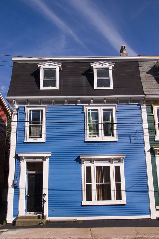 """colorful historic home, part of """"Jelly Bean Row"""", St. John's, Newfoundland, Canada"""
